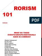 Terrorism 101