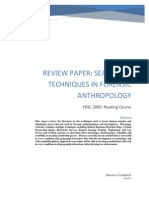 Review Paper Searching Techniques in Forensic Anthropology