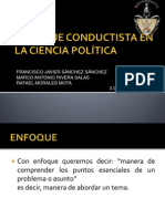Enfoque Conductista en La Ciencia Política