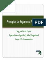 Principios de Ergonomía Aplicada