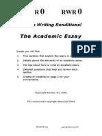 Reno Dal the Academic Essay 1