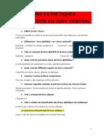 Jury Central Question Esthetique