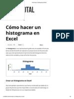 Cómo Hacer Un Histograma en Excel