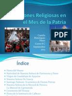 Expresiones Religiosas en El Mes de La Patria Bueno