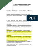 L.ii. Transdisciplinariedad e Interdisciplinariedad. Lectura 2