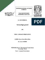 TAREA 1 Definiciones y Codigo Deontologico Farmaceutico FARMACOLOGÍA