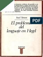 Simon Josef - El Problema Del Lenguaje en Hegel