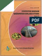 Statistik Daerah Kabupaten Kolaka Utara 2013