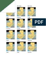 Mapa de Guatmala Con Cada Uno de Sus Departamentos