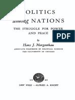Morgenthau Politics Among Nations