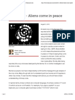 It's official - Aliens come in peace - Tucson ufo | Examiner.com