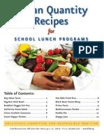 Vegan Recipes for School Lunch Programs