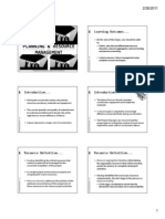 Chapter 6 - Resource Management
