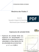 EM35B-ME541_ 11 - Equação Integral Da Quantidade de Movimento Para Camada Limite