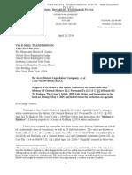 GM Ignition Switch - Sander Esserman Letter to Judge Gerber