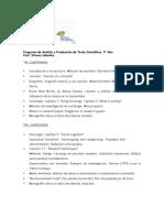 Analisis y Produccion de Textos Cientificos 5º
