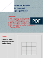 Membina MagicSquare 3x3x3 - Pembuka Minda  1