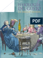 Fisiologia Del Gusto - J.a Brillat-Savarin