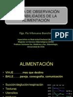 Apuntes Pauta de Observación de Habilidades de La Alimentación. Prof. Villanueva