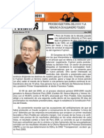 Proceso Electoral Del 2000 y La Renuncia de Alejandro Toledo