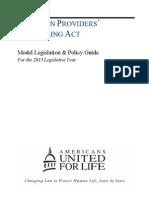 Abortion Providers Privileging Act 2013 LG