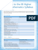 IB Higher Level Syllabus