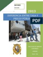 Diferencia Entre Tasa y Precio Público