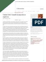 Unión Civil_ Cuando La Mayoría Se Equivoca _ Columnistas _ LaRepublica