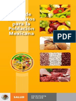 Guia de Alimentos Para La Población Mexicana