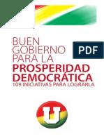 109 Propuestas_Juan Manuel Santos_partido de La U_presidencial Colombia_2010