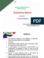 Aulas 18 a 20 - Estatiėstica - Teste de Hipoėtese_2014