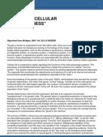 insight into cellular consciousness