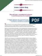 Arturo Andres Roig - Ética del poder y moralidad de la protesta
