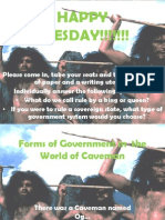 forms of government in  the world of caveman