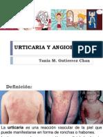 Urticaria y Angioedema Alergo