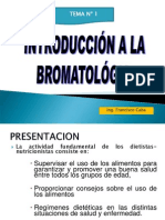 Introduccion a La Bromatologia
