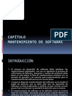 CAPÍTULO 6 Mantenimiento de Software