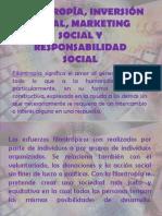 Diferencias Entre Filantropía, Mktin No Lucrativo, RSE Clase 6 Septiembre 2013