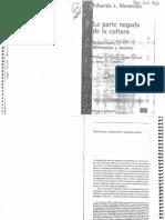 6620-Menéndez, Eduardo - La Parte Negada de La Cultura (Cap. 1)