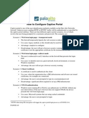 Palo Alto - How to Configure Captive Portal   Http Cookie   Public