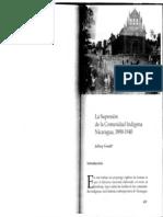 Jeffrey Gould - La Supresión de La Comunidad Indígena - Nicaragua 1890-1940