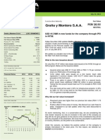 Graña y Montero S.a.a. - Update - FV @ PEN 10.93 - Neutral