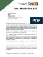 Acta Asamblea, Miercoles 23-04