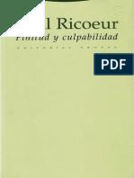 164068523 Paul Ricoeur Finitud y Culpabilidad