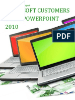 Microsoft Customers using PowerPoint 2010 - Sales Intelligence™ Report