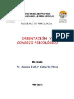 Modulo Del Curso Orientacion y Consejo Psicologico