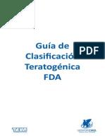 Guía de clasificación teratogénica de la FDA.
