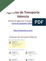 Agencias de Transporte Valencia