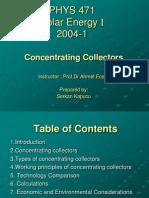 471 2004 1 Concentrating Collector Serkan Kapucu