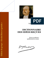 Flaubert Dictionnaire Des Idees Recues Source